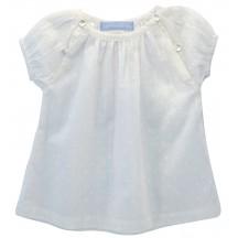 Abitino baby in cotone BIO bianco ricami