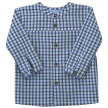 Camicia in cotone BIO stampa quadri Baby