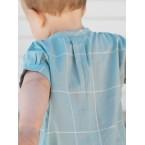 Pagliaccetto leggero a manica corta taglio camicia