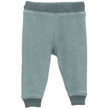 Pantaloni in ciniglia BIO celeste