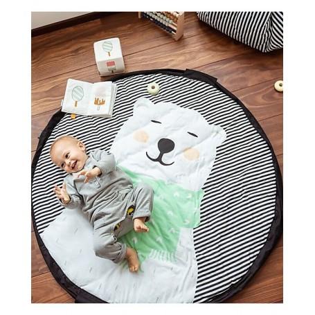 Sacco portagiochi/tappeto imbottito Orso Polare