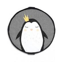 Sacco portagiochi/tappeto imbottito Pinguino